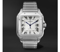 Santos 39.8mm Interchangeable Stainless Steel And Leather Watch