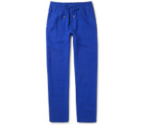 Pacha Linen Drawstring Trousers - Blue