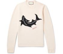 Shark-intarsia Wool Sweater