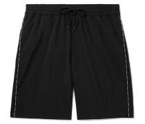 Long-length Logo-print Swim Shorts - Black