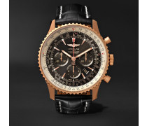 Navitimer 1 Chronometer 46mm 18-karat Red Gold And Crocodile Watch