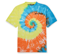 Oversized Logo-Print Tie-Dyed Cotton-Jersey T-Shirt