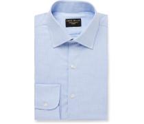 Light-Blue Puppytooth Cotton Shirt