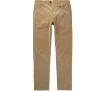 Fishtail Stretch-cotton Corduroy Trousers - Tan