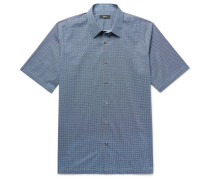 Menlo Slim-fit Printed Stretch-cotton Shirt