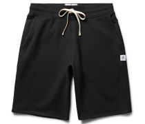Loopback Cotton-jersey Drawstring Shorts - Black
