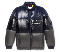 7 Moncler Fragment Wondar Colour-block Quilted Shell Down Jacket - Navy