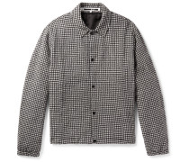 Gingham Cotton And Wool-blend Jacket
