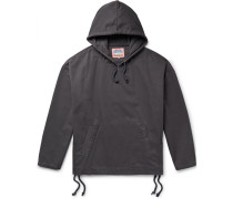 Flanck Lace-up Cotton-twill Hoodie