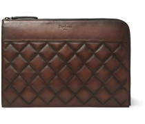 Nino Quilted Leather Pouch - Brown