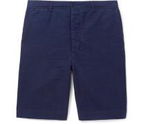 Slim-fit Cotton-seersucker Shorts