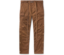 Belted Nylon Cargo Trousers