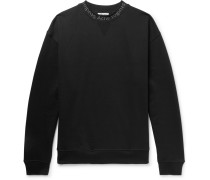 Flogho Logo-print Fleece-back Cotton-jersey Sweatshirt - Black