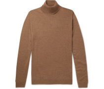 Richard Merino Wool Rollneck Sweater - Brown