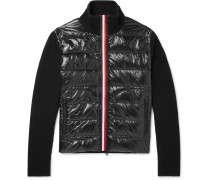 Panelled Virgin Wool And Quilted Shell Down Jacket