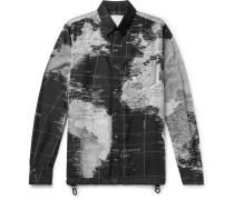 Printed Shell Shirt Jacket