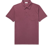 Riviera Slim-Fit Cotton-Mesh Polo Shirt