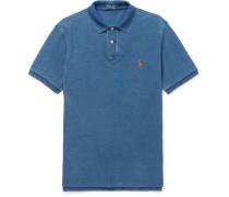 Slim-fit Washed Cotton-piqué Polo Shirt