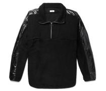 Leroy Shell-trimmed Fleece Half-zip Sweater - Black