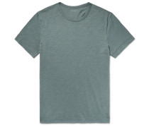 Slub Cotton-jersey T-shirt - Gray green