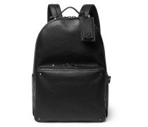 Valentino Garavani Rockstud Pebble-grain Leather Backpack
