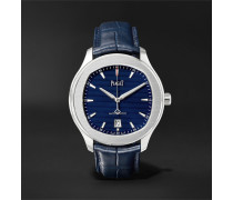 Polo S 42mm Stainless Steel And Alligator Watch - Blue
