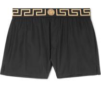 Slim-fit Short-length Logo-trimmed Swim Shorts