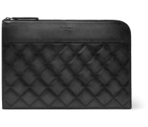 Nino Quilted Leather Pouch - Black