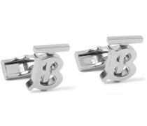 Logo-Detailed Silver-Tone Cufflinks