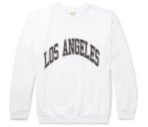 Printed Fleece-Back Cotton-Jersey Sweatshirt