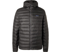 Quilted DWR-Coated Ripstop Hooded Down Jacket