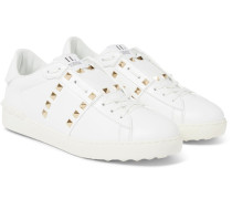 Valentino Garavani Rockstud Untitled Leather Sneakers - White