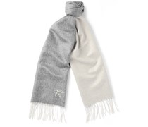 Two-Tone Double-Faced Silk and Cashmere-Blend Scarf