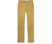 Slim-Fit Cotton-Corduroy Trousers