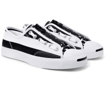 +  Takahiromiyashita Thesoloist. Jack Purcell Zip Printed Canvas Sneakers - Black