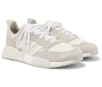 Boston Super X R1 Suede And Mesh Sneakers - White