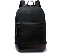 Volume MM Venezia Leather-Trimmed Nylon Backpack