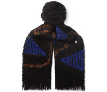 Embroidered Mohair Scarf