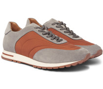 Weekend Walk Suede And Wind Storm System Shell Sneakers