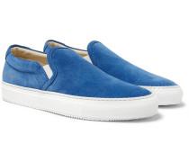 Suede Slip-on Sneakers - Blue