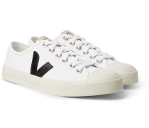 Wata Rubber-trimmed Organic Cotton-canvas Sneakers - White