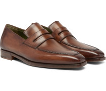 Andy Leather Loafers - Brown