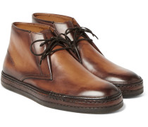 Polished-leather Desert Boots