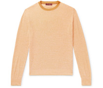 Slim-Fit Silk and Linen-Blend Sweater