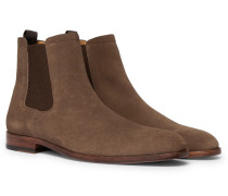 Cardiff Suede Chelsea Boots - Brown