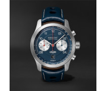Limited Edition Jaguar D-Type Automatic Chronograph 43mm Stainless Steel and Leather Watch
