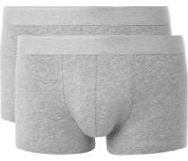 Two-pack Mélange Stretch-cotton Boxer Briefs