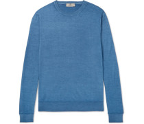 Slim-fit Wool And Silk-blend Sweater