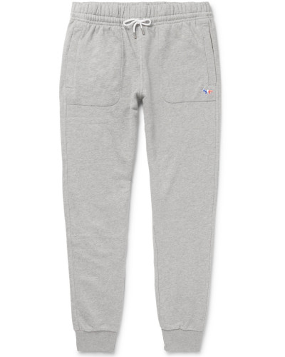 Mélange Loopback Cotton-jersey Sweatpants - Gray