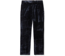 Toby Silk And Cotton-blend Velvet-corduroy Trousers